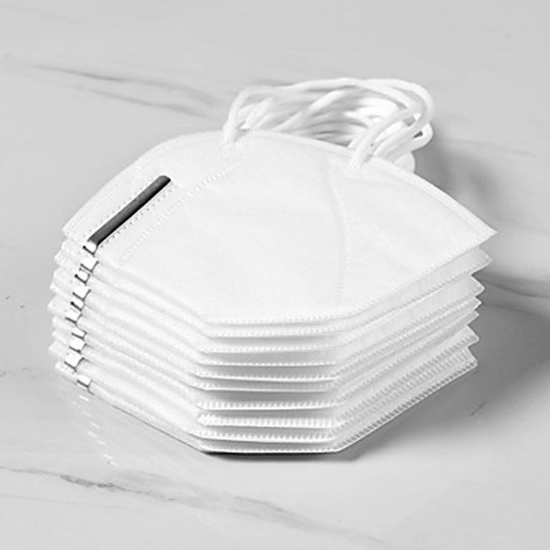 10 pcs KN95 CE FFP2 Face Mask Respirator Protection In Stock CE Certified Certification White