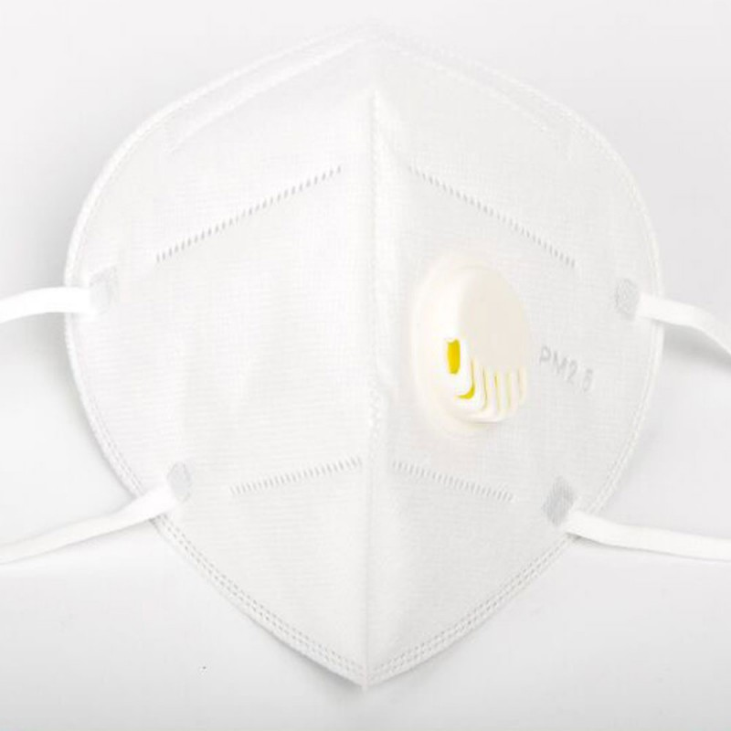 10 pcs KN95 Breathing valve Face Mask Respirator Protection PM2.5 Protection In Stock CE Certification High Quality Unisex White