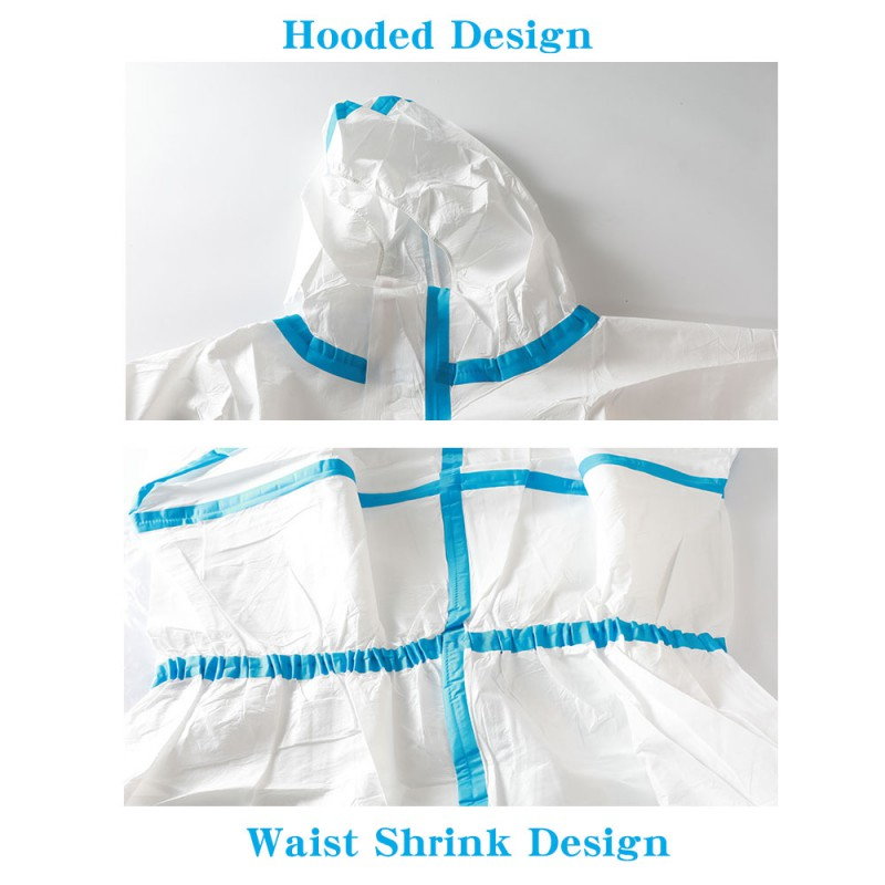 Medical disposable protective clothing Hooded quarantine Jumpsuit epidemic prevention clothing CE Certified Certification
