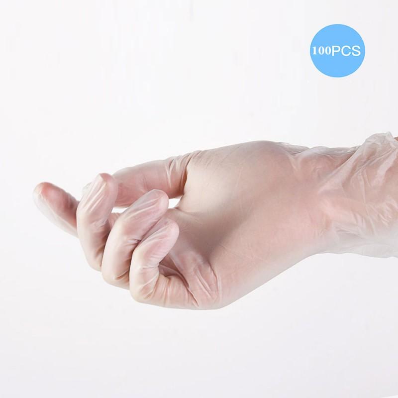 100 pcs Glove Protection Silicon Rubber disposable PVC Rubber latex transparent gloves